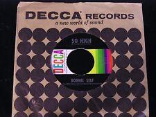 Ronnie Self-So High-RARE 1960 US Rockabilly 45=-CLEAN!
