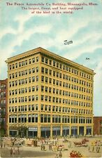 c1910 The Pence Automobile Company Building, Minneapolis, Minnesota Postcard