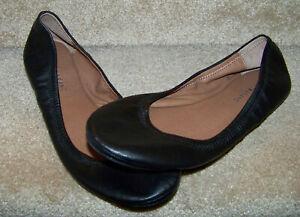Lucky Brand Emmie Leather Ballet Flat Shoe Black Women's Sz 12M/44