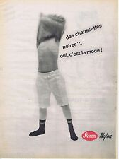 PUBLICITE ADVERTISING 115  1961  STEMM  chaussettes enfant garçon