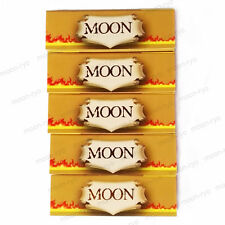 5×50 sheets 1.0 inch Moon Unrefined Hemp Cigarette Tobacco Rolling Papers