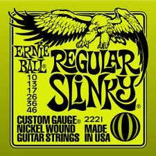 ERNIE BALL 2221 REGULAR SLINKY JEU CORDES GUITARE ELECTRIQUE 10-46