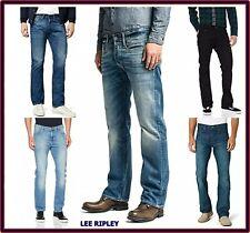 Jeans Lee da Uomo Ripley denim gamba dritta dritti svasati vita bassa w30 31 32