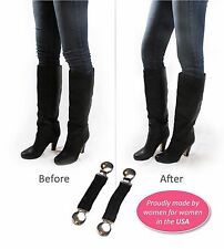 Boot Clips, Boot Straps Stirrups- 2 Pack Boot Snugs Boot Straps Pant Clip- Black