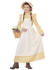 Prairie Olden Day Pilgrim Frontier Colonial Victorian Book Week Girls Costume