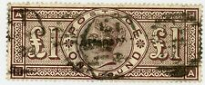 1884 Great Britain Stamp #110, £1 brn violet, Used VF, H,........VISIT MY STORE