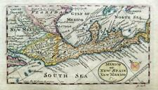 More details for mexico  central america   miniature map by cowley c1777 genuine antique map