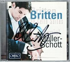 Daniel MÜLLER-SCHOTT Signed BRITTEN Suite for Cello No.1 2 3 Orfeo CD Autogramm