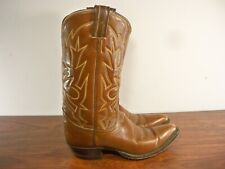 Tony Lama Leather Cowboy Western Rancher Riding Cowgirl Women's Boots Size 6.5