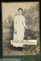 Cabinet Photo - HULL Family Lady Standing - Reading, Pennsylvania