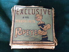 Vintage 1935 POPEYE 16 MM FILM w/ Box  Cartoon Movie - Black and white - EB78