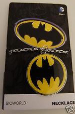 Batman Symbol Logo Underglass Dc Comics Necklace Nwt