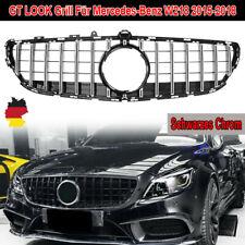 Kühlergrill Für Mercedes Benz AMG GT LOOK Grill CLS W218 15-18 Schwarzes Chrom