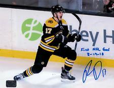 Ryan Donato Boston Bruins Signed inscribed autographed 1st NHL goal 16x20 NPF
