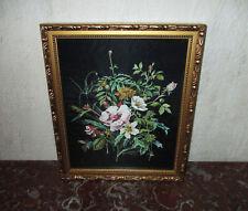 Antico quadro mazzo di fiori campi firmato Martignoni 1900 Art nouveau