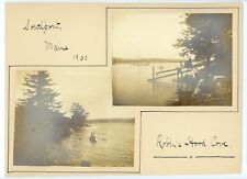 Southport Maine Robin's Hood Cove . Boats on water antique  snapshot photo 1900