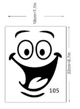 Cartoon Smiling Face DIY Wall Stickers Kids Bedroom Living Room sticker. 0288