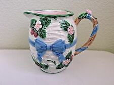 Haldon Blue Bow Flower Pitcher