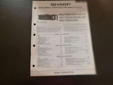 Original Service Manual Schaltplan  Sharp WQ-T282H/E/Q