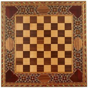 Natural Solid Wooden Chess Board Without Pieces 33x33x1.5 cm