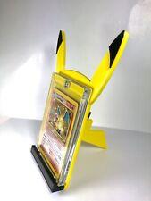 Pokemon Card Stand PIKACHU W/Tail PSA 3D Printed TCG Holder Trading Card Display