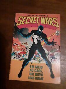 Secret Wars #8 of 1986 Spiderman 1st black costume Brazil edition comics Marvel