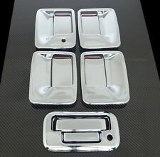 2008-2014 Ford Super Duty Chrome 4 Door Handle w/o PSG Keyhole + Tailgate Cover