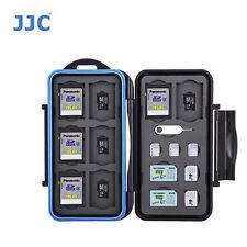 JJC MC-STM23 Memory Card Case fits 8 SD 8 MSD 2 SIM 2 Micro SIM 3 Nano SIM