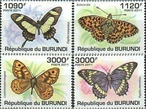 Burundi 2011 ☀ Fauna-Butterflies Complete set Mi 2118-212 ☀ MNH**
