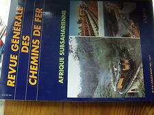 µ?. Revue Generale des Chemins de Fer RCGF 07/1995 Afrique Subsaharienne