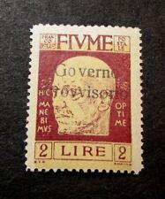 Flume  Stamp Scott#  144  Overprinted  1921  MH  C424