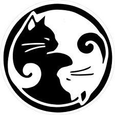 Yin Yang Cats - Bumper Sticker / Decal