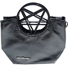 Vinyl Black Pentagram Handle Purse Gothic Halloween Kreepsville 666 Handbag