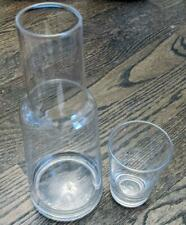 Carafe and Glass Set, Bedside Decanter - Water or Wine