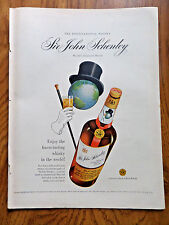 1951 Schenley's Whiskey Ad Sir John Schenley Whisky