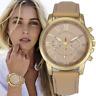 Fashion Women's Geneva Roman Watch Numerals Leather Analog Quartz Wrist Watches