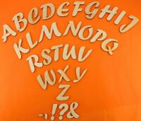 Holzbuchstabe Alphabet Rohling Holzbuchstaben 5 cm Forte Holzzahlen