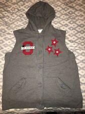 "OSU BUCKEYES ""GO BUCKS"" Studio Works XL Womens Hooded Vest EXCELLENT CONDITION"