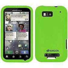 NEW AMZER GREEN SILICONE SOFT SKIN JELLY CASE FIT FOR MOTOROLA DEFY MB525