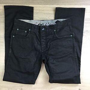 Stitch's Texas Raw Black Straight Men's Jeans Size 34 L33 NWOT (V1)