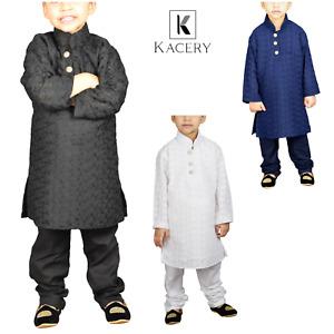 Boys Kids Indian Ethenic Cotton Chiken  Kurta Pajama BK251