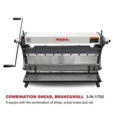 KAKA Industrial 30-Inch Sheet Metal Brake, Shears and Slip Roll Machine