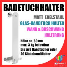 Glas Handtuchhalter / Gästehandtuch Wand Montage Duschkabine Aufhänger H 60cm