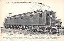 CPA THEME TRAIN LES LOCOMOTIVES P.L.M. POUR TRAINS EXPRESS TYPE 2