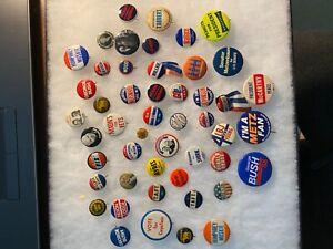 50 Political Vintage Pinback Button Badge Pins Collection Nixon Humphrey