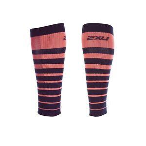 2XU Striped Run Comp Calf Sleeves - 2017
