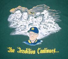 XL 1992 Notre Dame Lou Holtz THE TRADITION CONTINUES Alumni Association T Shirt