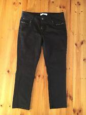 Blue Grae Denim Black Jeans With Bronze Stud Pockets Size 16
