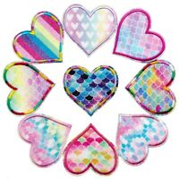 Shiny Spark Love Heart Sew on/Iron on Embroidered  Patch Diy Craft Applique