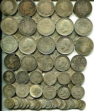 £5 pre 1920 Halfcrowns to Threepences 1817-1919,  16.45 tr oz of silver good mix